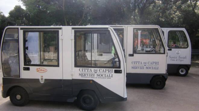 Capri. Un carrello elettrico per il trasporto dei disabili