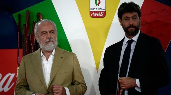 Ecco lo scambio di sms infuocati tra De Laurerntiis ed Agnelli alla vigilia di Juve -Napoli, la sfida mancata
