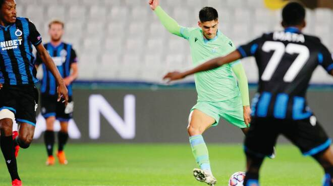La Lazio (senza 11 giocatori) esce indenne da Bruges