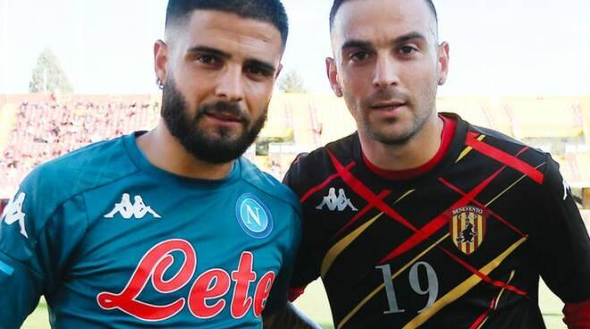 Lorenzo e Roberto Insigne i fratelli del gol -Nel derby al Vigorito segnano entrambi