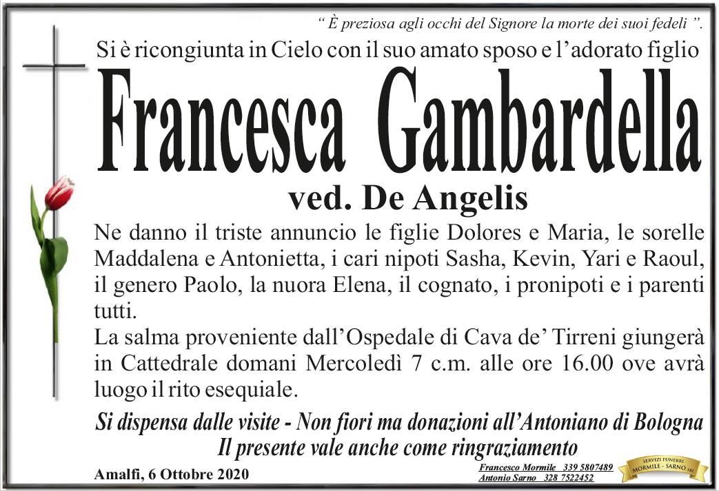 lutto francesca gambardella