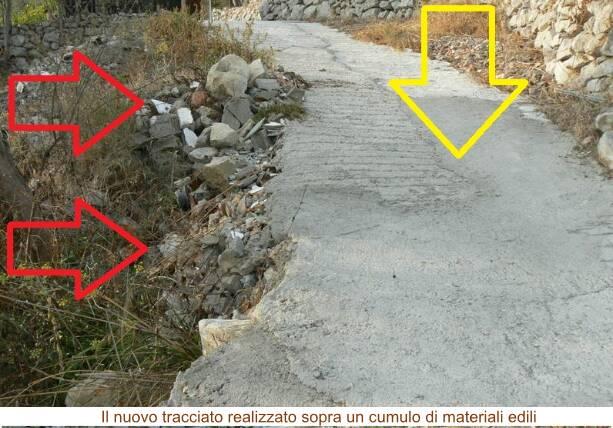 Massa Lubrense, Torca. Ignoti cementano abusivamente un tracciato trekking in via Salastra, la denuncia del WWF