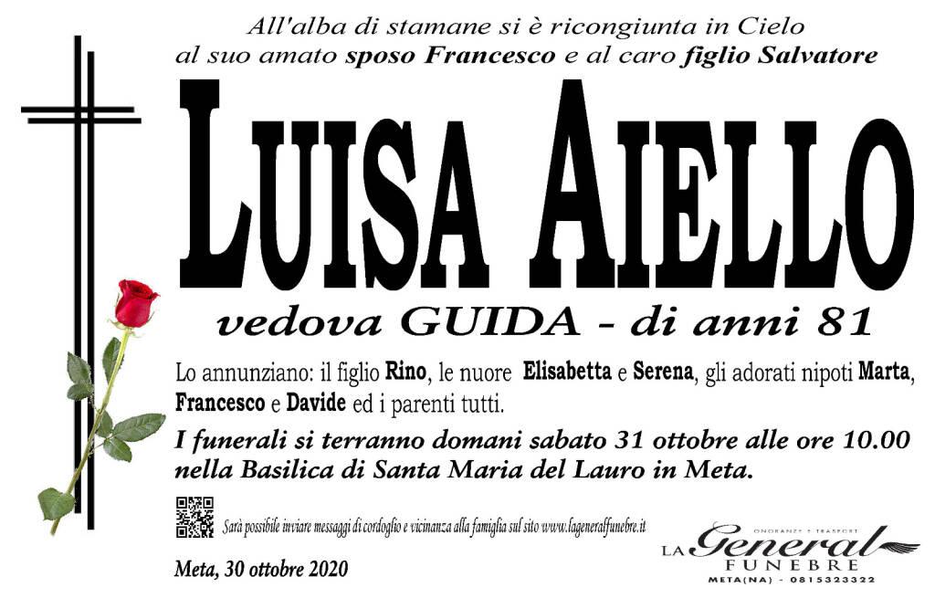 Meta piange la scomparsa di Luisa Aiello, vedova Guida