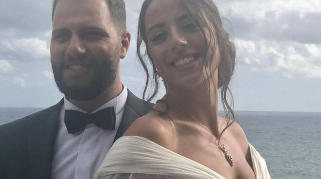 Positano auguri agli sposi Mario e Arianna