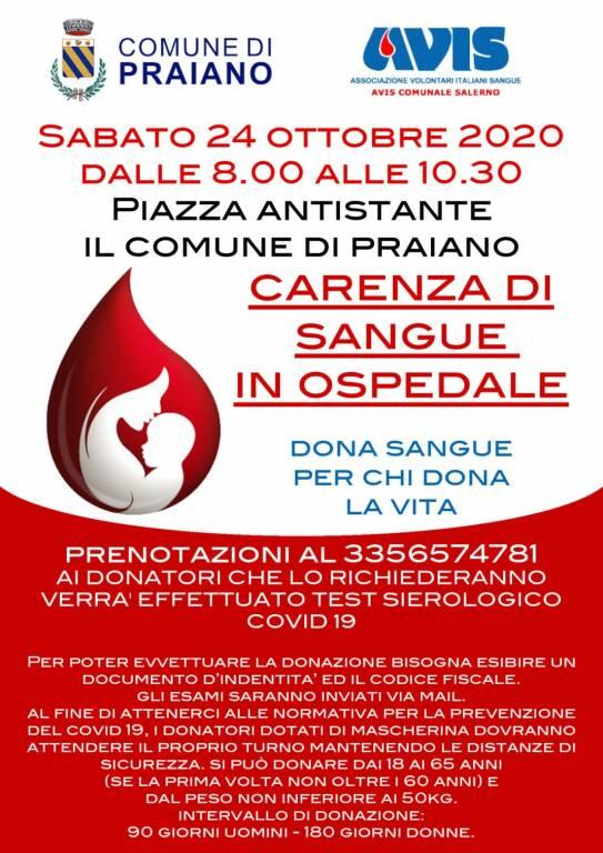 Praiano. Sabato 24 ottobre giornata dedicata alla donazione del sangue