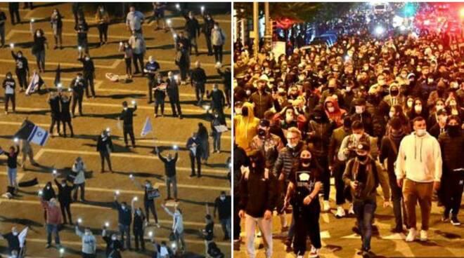 proteste tel aviv napoli