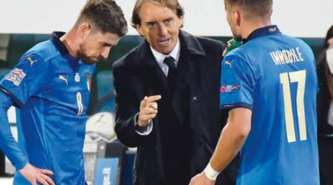 Roberto Mancini ct della Nazionale-calcio da difendee