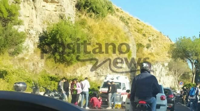 Tordigliano incidente verso Positano