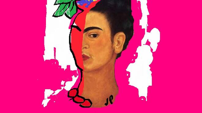 Viviana Pallotta - 2018 - Frida² - digital art - 13,3x17,3 cm