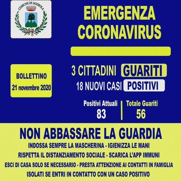 Coronavirus. Tre cittadini guariti e diciotto nuovi casi positivi ad Agerola