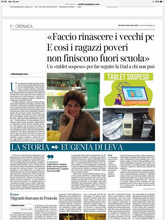 Eugenia di Leva sul Corriere