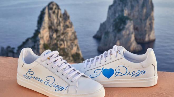 """""""Grazie Diego""""! Un saluto da Capri: Silvio Staiano gli dedica la sua ultima creazione"""