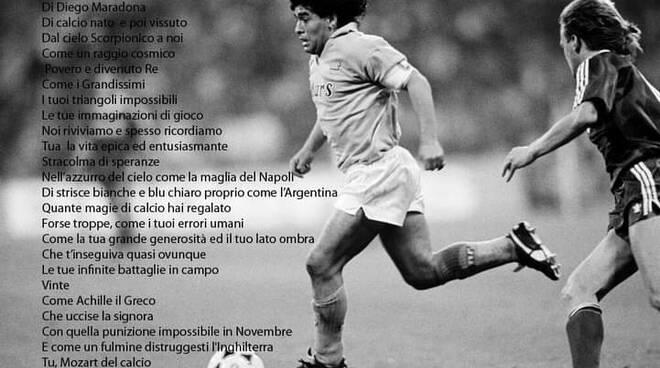 La poesia di Rolando Attanasio dedicata a Maradona