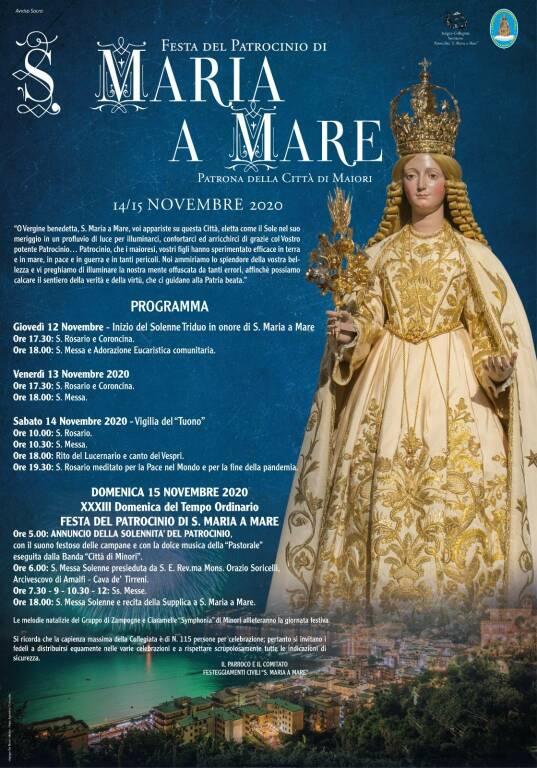 Maiori. Il programma dei festeggiamenti per Santa Maria a Mare