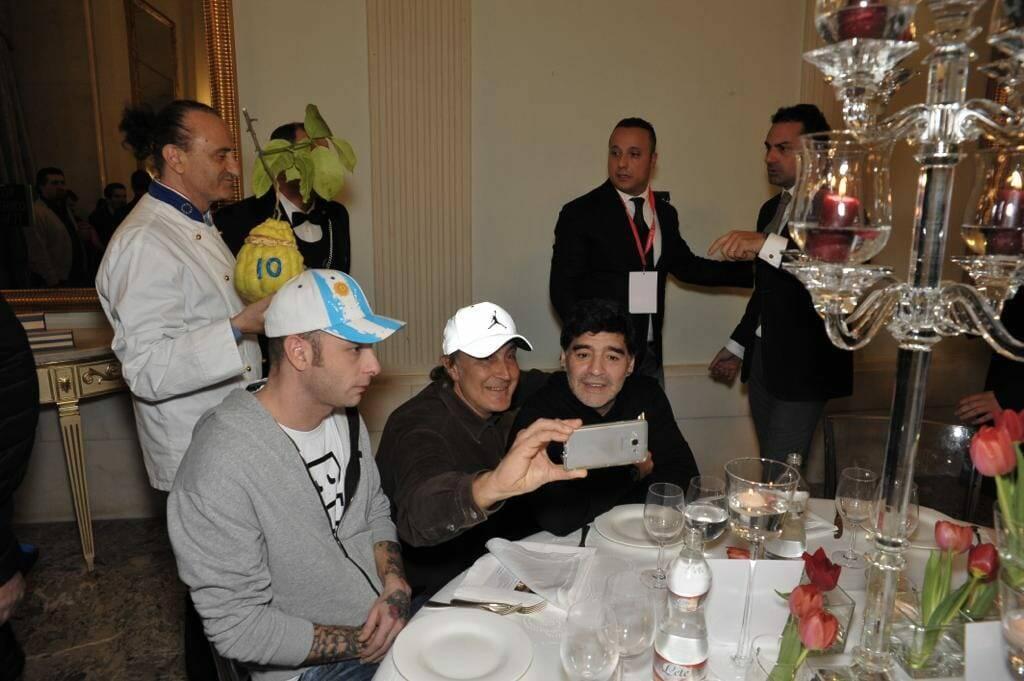 Maradona e Antonio Cafiero Sorrento
