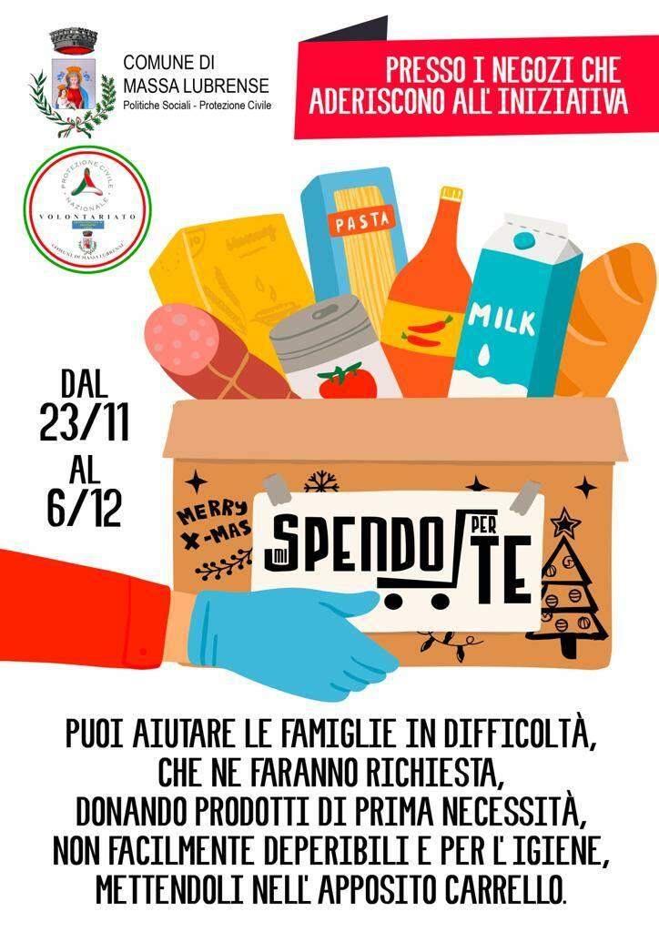"""Massa Lubrense, """"Mi spendo per te"""": l'iniziativa di solidarietà per la raccolta di generi alimentari"""