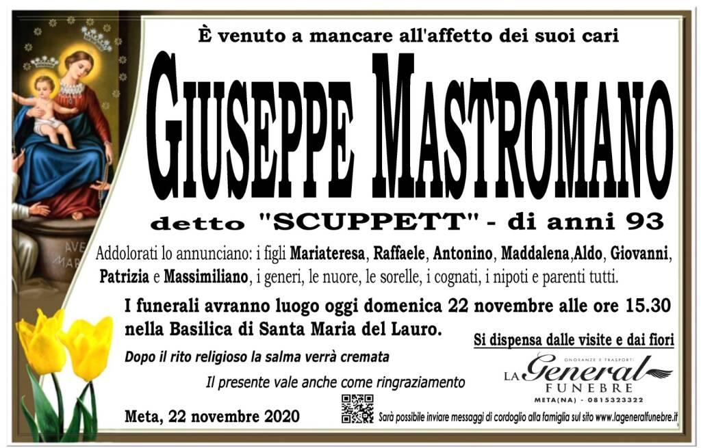 """Meta, è venuto a mancare all'affetto dei suoi cari Giuseppe Mastromano, detto """"Scuppett"""". Aveva 93 anni"""