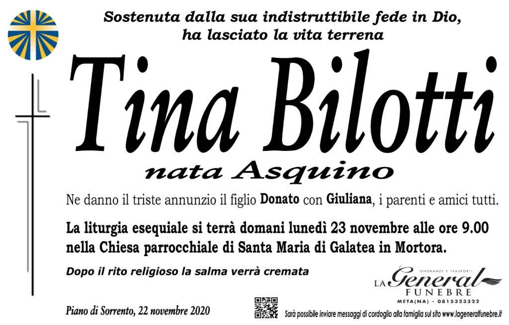 Piano di Sorrento, ha lasciato la vita terrena Tina Bilotti, nata Asquino