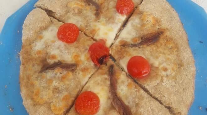 Pizza di Grano con le alici