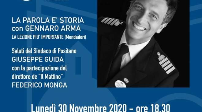 """Positano Mare, Sole e Cultura: lunedì 30 novembre """"La parola è storia"""" con Gennaro Arma"""