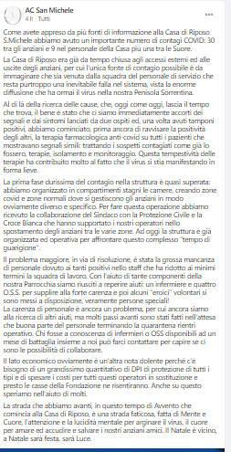 Piano Di Sorrento Aiutiamo La Casa Di Riposo San Michele Positanonews