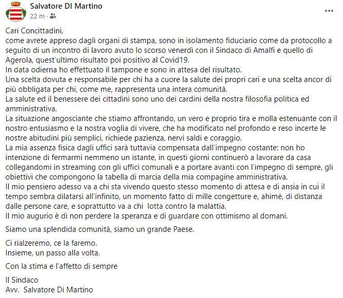 post sindaco di martino tampone