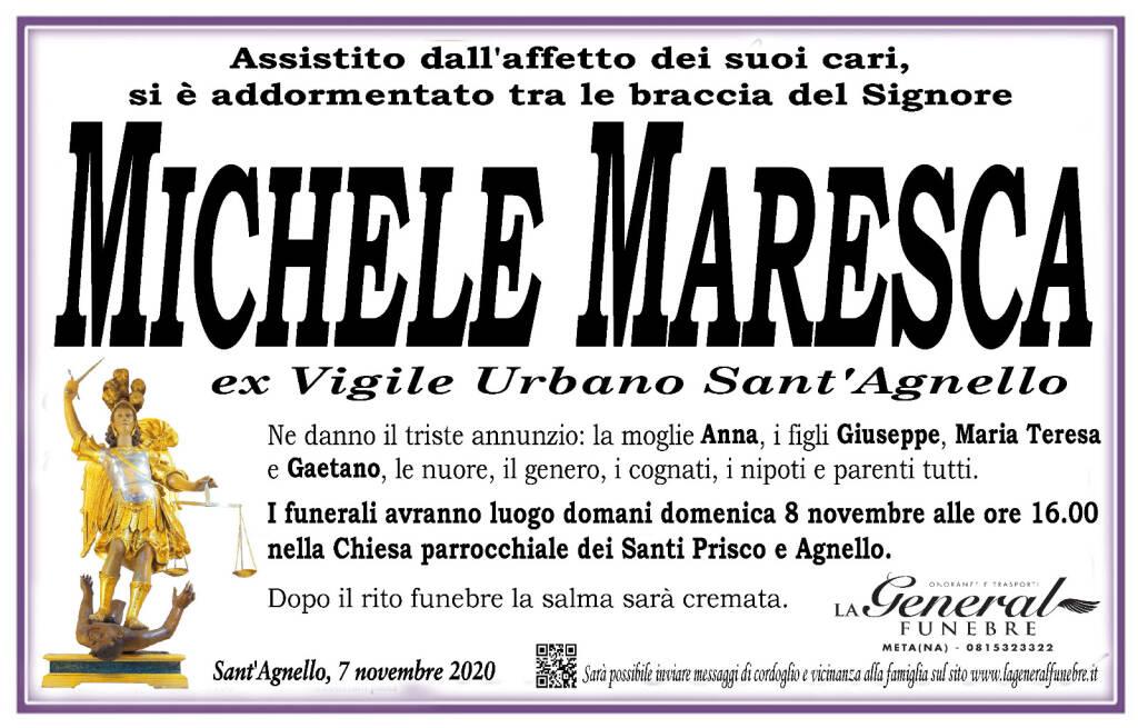 Sant'Agnello in lutto per la perdita di Michele Maresca, ex Vigile Urbano