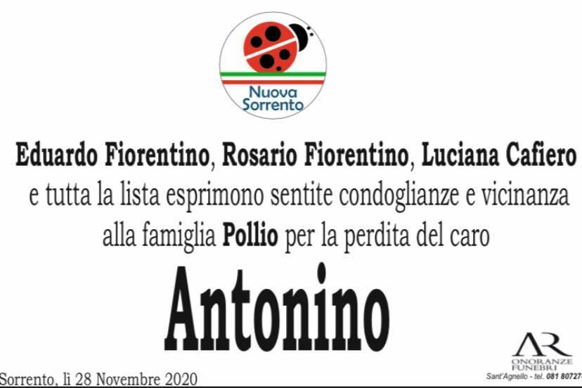 Sorrento: la vicinanza della lista Nuova Sorrento alla famiglia di Tonino Pollio