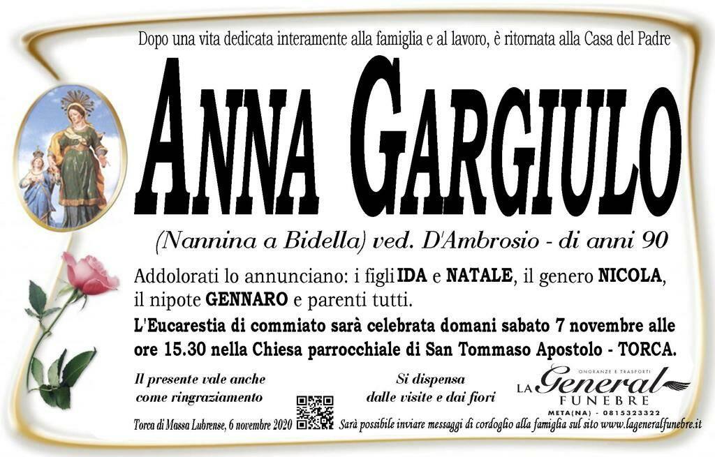 Torca, Massa Lubrense. All'età di 90 anni ci ha lasciati Anna Gargiulo, detta Nannina a Bidella