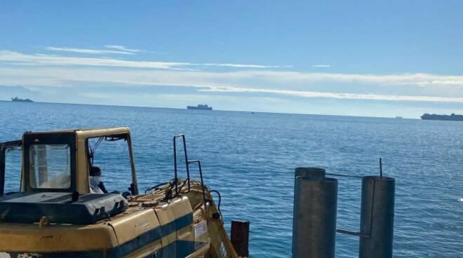 Vietri sul Mare, continuano i lavori per l'attracco alla Marina: da primavera collegamenti alle vie del mare