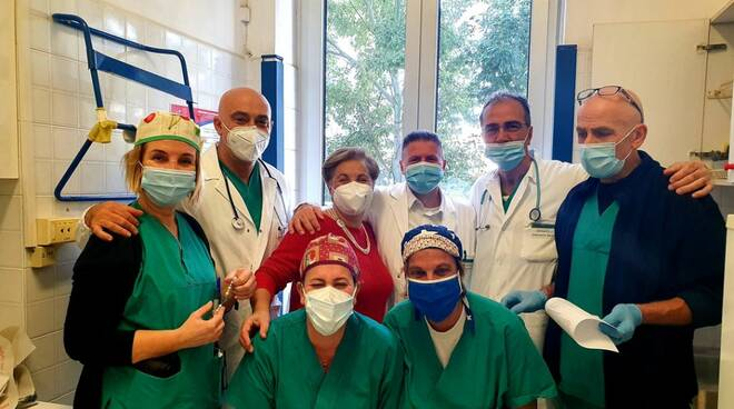 Vincenzo Iaccarino con i medici