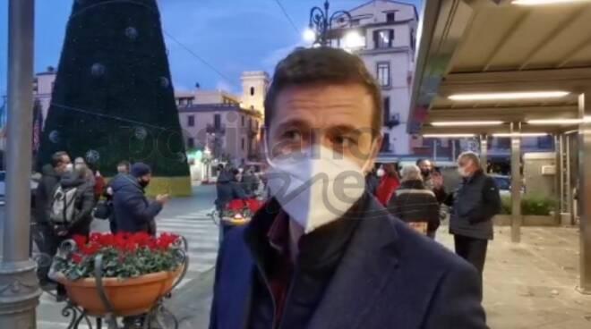 """A Sorrento l'accensione dell'Albero, il sindaco: """"Segno di speranza, soprattutto per dare un pizzico di normalità"""""""