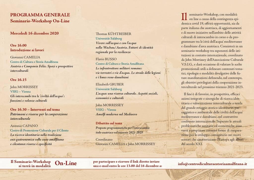 Amalfi. Seminario-Workshop sul tema Tra Mediterraneo e Danubio