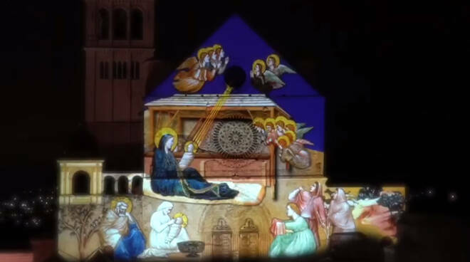 Assisi video mapping Natale