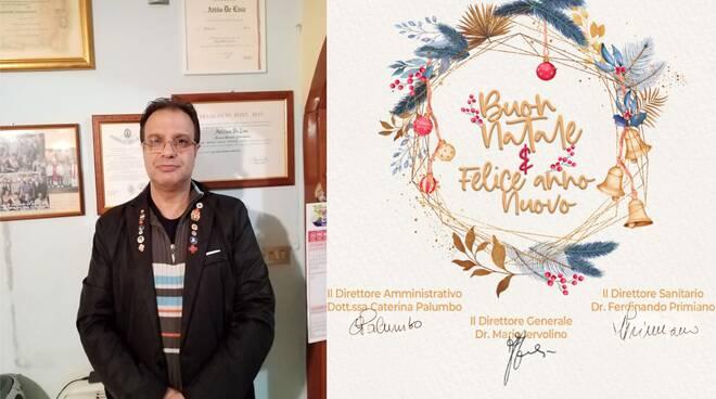 ASL Salerno-Regione Campania: i graditi auguri di Buon Natale 2020 e Felice Anno 2021 che il Cav. N. H. don Attilio De Lisa ha ricevuto dalla Direzione Generale