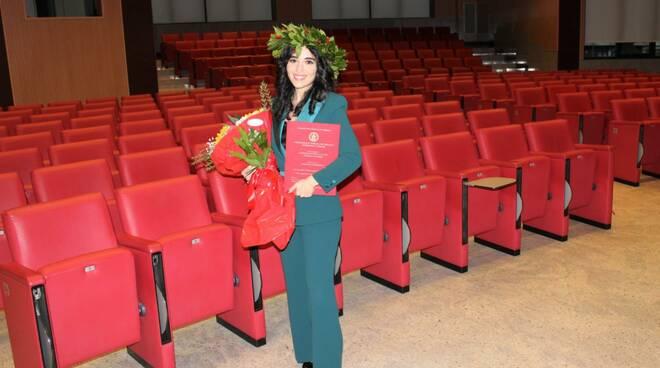 Federica Savastano consegue la laurea in biotecnologie per la salute all\'università Federico II di Napoli