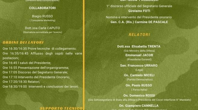 """Primo congresso fondativo del sindacato ITAMIL - Esercito: """"Diamo voce ai diritti sindacali dei militari"""""""