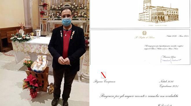 I ringraziamenti ricevuti dal Presidente della Regione Campania Vincenzo De Luca e dal Prefetto di Salerno Francesco Russo dopo i miei auguri inviati