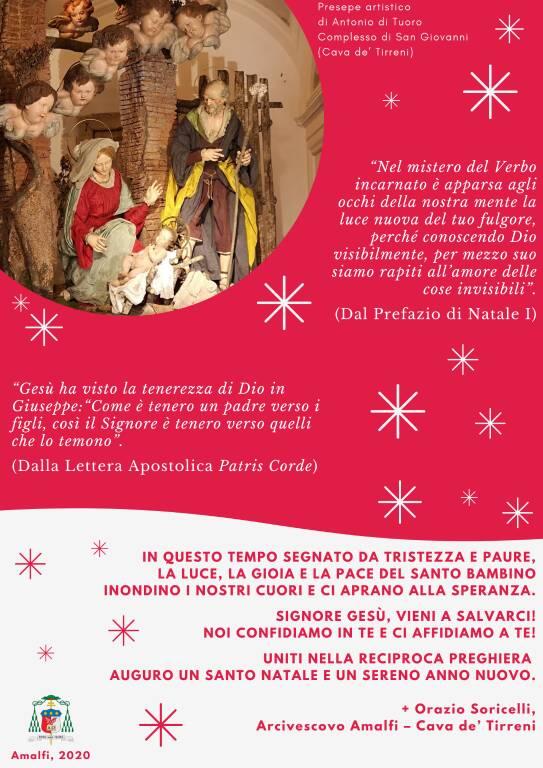 Diocesi Amalfi-Cava de' Tirreni: gli auguri dell'Arcivescovo Mons. Orazio Soricelli