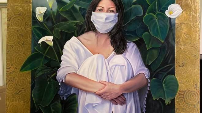 Donna con mascherina di Sergio Buonocore