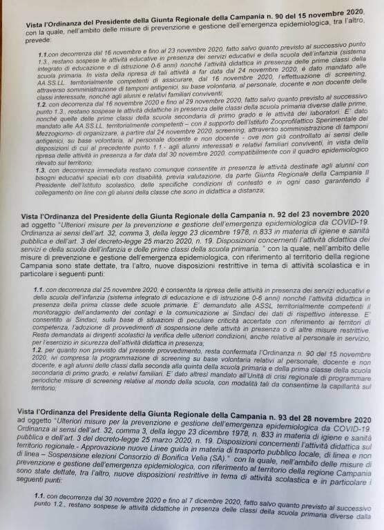 Massa Lubrense, prorogata fino al 22 dicembre la chiusura delle scuole