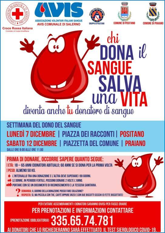 Positano - Praiano insieme per la settimana della donazione del sangue