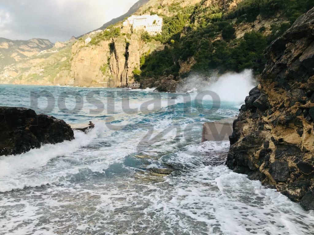 Praiano post maltempo: danni alla Gavitella