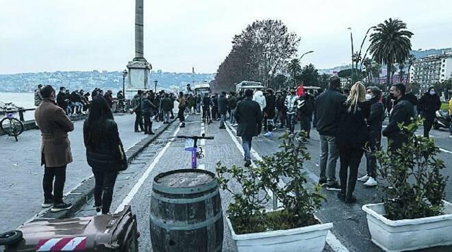 Protesta ristoratori a Napoli
