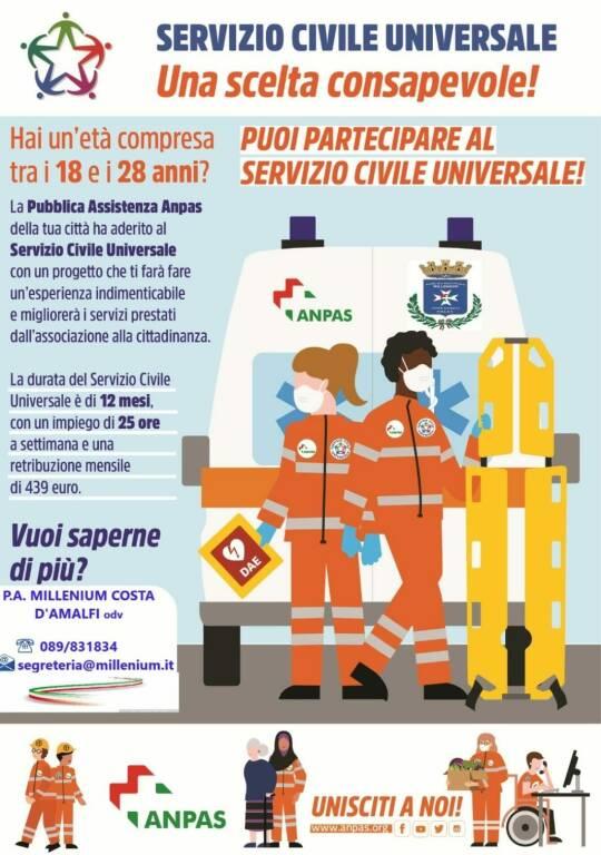 Pubblicato il bando del Servizio Civile 2020, alla P. A. Millenium Costa d'Amalfi sono stati assegnati 6 posti: ecco chi e come potrà presentare domanda