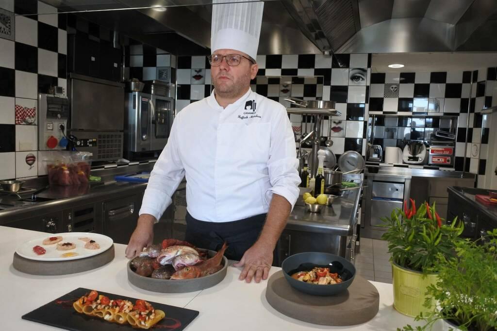 Raffaele Mandara cucina Casa Mele
