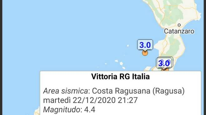 Terremoto a Ragusa in Sicilia