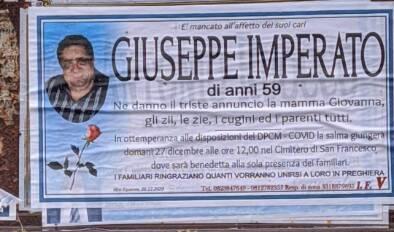 Vico Equense, all'età di 59 anni Giuseppe Imperato è mancato all'affetto dei suoi cari
