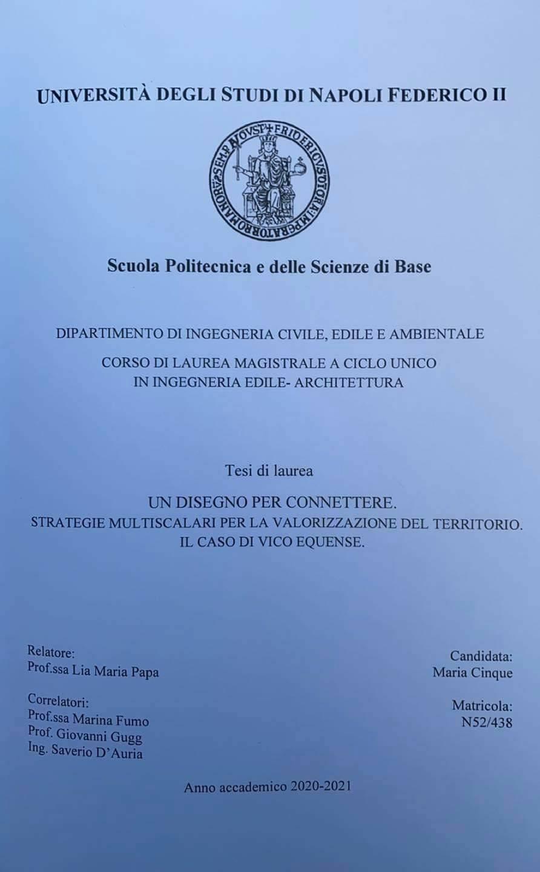 Vico Equense, complimenti a Maria Cinque, laureata nel Corso Magistrale di ingegneria edile-architettura con voto di 110!