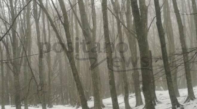 Vico Equense, il giorno di Santo Stefano la prima neve sul Faito